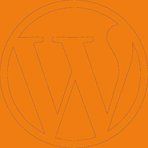 Wordpress logo orange