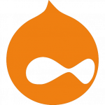 Drupal logo orange