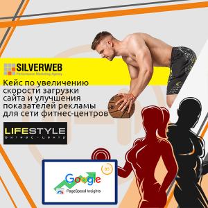 Кейс по увеличению скорости загрузки сайта и улучшения показателей рекламы для сети фитнес-центров